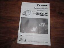 PANASONIC GS140 / GS150  RARE ORIGINAL UK INSTRUCTION MANUAL BOOK INSTRUCTIONS