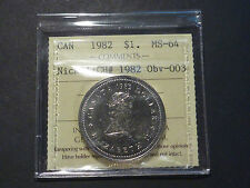 1982 Nickel $1 Constitution, Small Jewel , CH#1982 Obv-003, ICCS MS64