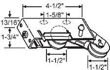 "STB Sliding Door Roller Tandem Steel Wheels 1-1/2"" Diameter 13/16"" Wide Housing"