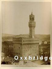 Florence Italy 1880 Town Square Photo Palazzo Vecchio/Giardino Boboli