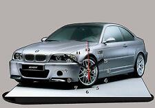 AUTO BMW M3 E46 -01, AUTO IN OROLOGIO MINIATURA