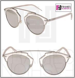 CHRISTIAN DIOR SO REAL Matte Silver Grey Metal Mirrored Sunglasses DIORSOREAL