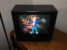 "JVC  13 "" Color TV C-1328 Mastercommand Antenna WORKS gaming CRT television"