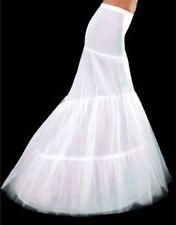 New White 2-Hoop Mermaid Wedding Dress Bridal Petticoat Crinoline Underskirt LL