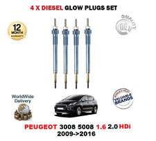 FOR PEUGEOT 3008 5008 1.6 HDI 2.0 HDi 2009>2016 DIESEL GLOW PLUGS SET