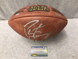 Peyton Manning Autographed Super Bowl XLI Football #32/500 Mounted Memories COA*