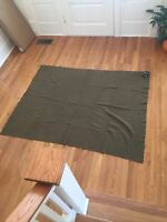 Antique WW1 Or WW2 US Army Issued Green Wool Blanket Collectible Field Gear Read