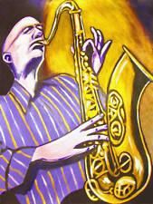 MICHAEL BRECKER PRINT poster jazz tenor saxophone selmer pilgrimage cd conn king