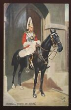 Military Whitehall Sentry on Guard Oilette 3546A PPC 1934
