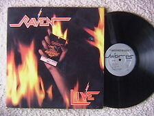 "RAVEN ""LIVE AT THE INFERNO"" LP 1984 SILVER MEGAFORCE NEAR MINT 2 LP SET"