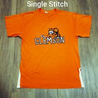 Vintage Clemson Tigers T-Shirt Single Stitch National Champion NCAA Football XL