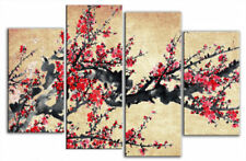 Medium (up to 36in.) Red Floral Art Paintings