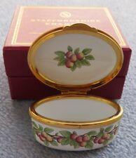 Staffordshire England Enameled Lidded Trinket Box Grow Old Along With Me MIB