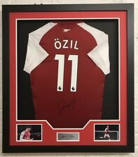 Mesut Ozil SIGNED & FRAMED Arsenal F.C. Shirt VERY RARE FULL SIGNATURE AFTAL COA