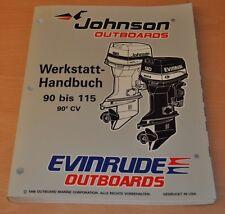 Johnson EVINRUDE EU 90° CV 90 - 115 PS 1996 Außenbordmotor Werkstatthandbuch OMC