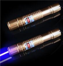 Military Blue Purple Laser Pen Pointer Burning Light Beam Battery Charger 1MW UK