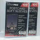 "(200) Ultra Pro Postcard Soft Sleeves Ultra Clear 100ct 3 11/16""x 5 3/4"" No PVC"