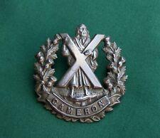 The Cameron Highlanders ~ 100% Genuine, British Army Military Cap Badge..