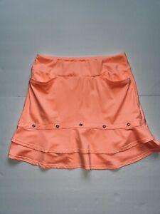 Tail Activewear Small Double Flounce Golf Skort Peach NWOT