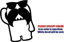 "Vinyl Decal Sticker - Mustache Domo Car Truck Bumper Window Laptop JDM Fun 9"""