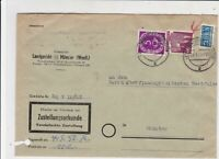 German 1952 MunsterW Cancel Obligatory Tax Aid for Berlin Stamps Cover Ref 26793