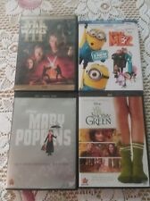Lot of 4 Disney Mary Poppins, Timothy Green, Despicable Me 2, Star Wars III DVD