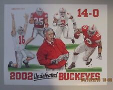 OHIO STATE BUCKEYES FOOTBALL UNDEFEATED NATIONAL CHAMPS ART PRINT 11X14 2002