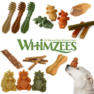 Whimzees Toothbrush Alligator Hedgehog Rice Bone Stix Sausage Dog Dental Treat
