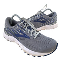 Brooks Adrenaline GTS 19 Mens Size 9.5 Gray Blue Athletic Running Shoes Sneakers