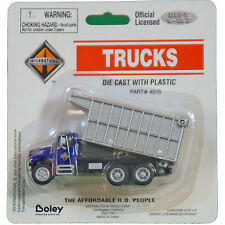 Diecast Blue and Silver Industrial Dump Truck HO 1:87 by Boley Layout Vehicle