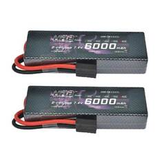 2x HRB 2S 6000mAh 7.4V Lipo battery 60C 120C Hard Case For Traxxas Slash 4x4 Car