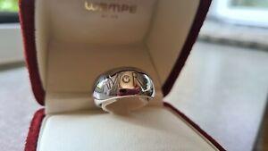 WEMPE Amor Manet Ring massiv 750 Weißgold Brillant Zertifikat Gr. 56