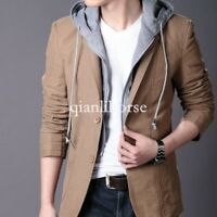 Hot Sale New Mens Casual Slim Fit Blazers Hooded Coats Design Suit Jackets Tops