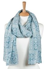 Quintessential Large Luxury Cotton/Silk Blend Scarf In Persia (blue)