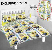Despicable Me Minions Single Double Reversible Bed Duvet Quilt Cover Set New