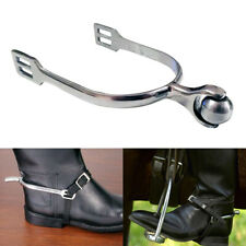 A Pair Equestrian Boots Stainless Steel With Roller Ball Smooth Horse Spurs
