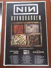 Nine Inch Nails Soundgarden 11x17 2014 promo tour concert poster cd lp shirt