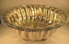"""Shreve & Co. Sterling ~  LARGE SILVER FOOTED BOWL ~ 9-1/2"""" Wide 15.2 Ounces"""