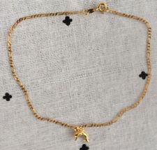 9k Gold anklet with dolphin charm AS NEW!!