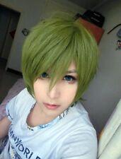New style 32cm Short Kuroko no Basuke-Midorima Shintaro Cosplay Green Wig