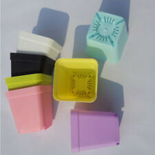10pcs/lot  random color Flower Pots pot trays,Plastic Pots,Small Square  Lx