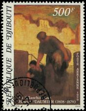 """DJIBOUTI C127 (Mi258) - """"The Laundress"""" by Honore Daumier (pa65206)"""