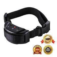 Electric Anti Barking Pet Trainer No Bark Small Dog Shock Training Collar Black