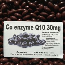 """Co-enzyme Q-10 (30mg) 120 capsules  One per day  """"FREE POSTAGE""""    (L)"""