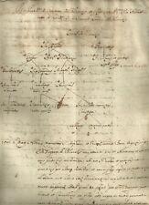 Albero Genealogico Manoscritto in Latino Ricerca Famiglia De Blanchis 1629