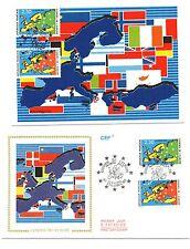 """FRANCE """" Conseil de l'Europe """". Carte et envelopp  e 1er jour"""