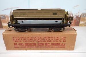 Vintage Prewar Lionel Standard Gauge No.218 Operating Dump Car With Box
