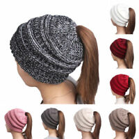 Beanietail Messy High Bun Ponytail Stretchy Knit Beanie Hat Skull Women lot