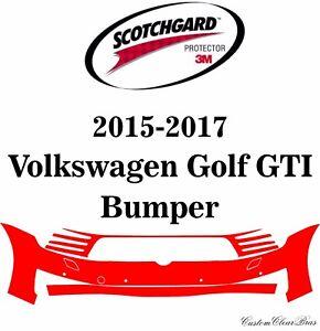 3M Scotchgard Paint Protection Film Pre-Cut 2015 2016 2017 Volkswagen Golf GTI