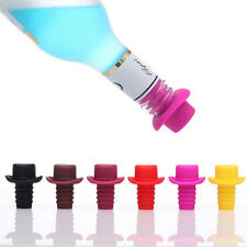 Novelty Top Hat Bottle Topper Wine Champagne Cork Stopper Gag Kitchen Tools HU